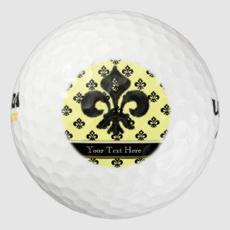 金属(紋章の)フラ・ダ・リ(黒) ゴルフボール