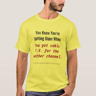 金年のケーブル・テレビ/天候のワイシャツ Tシャツ