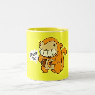 金幸運な猿 ツートーンマグカップ