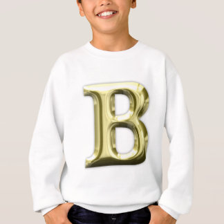 金手紙Bの光沢があるアルファベット スウェットシャツ