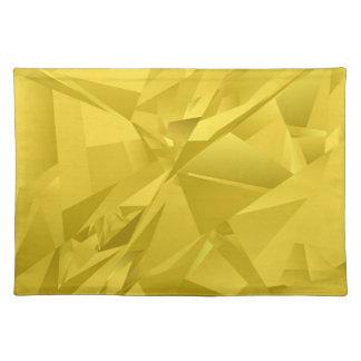 金抽象的な三角形 ランチョンマット