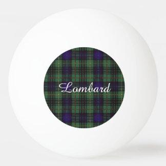 金持ちだが頭の悪い人の一族の格子縞のスコットランドのキルトのタータンチェック 卓球ボール