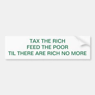 金持ちに課税して下さい バンパーステッカー
