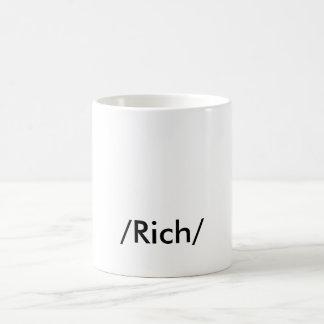 """""""金持ち"""" コーヒーマグカップ"""