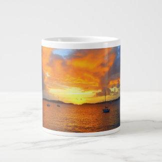 金日没のマグのヨット ジャンボコーヒーマグカップ