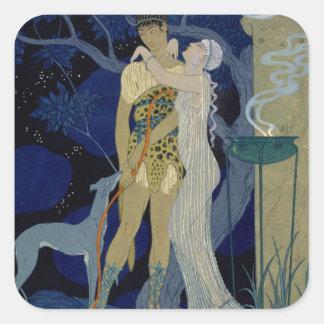 金星およびアドニス(色のlitho) スクエアシール
