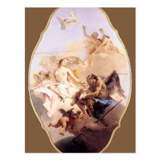 金星および時間ジョバンニBattistaのアレゴリー ポストカード