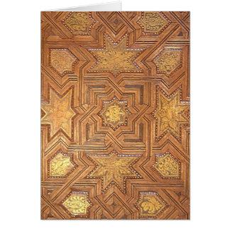 金星が付いている木の天井アルハンブラ カード