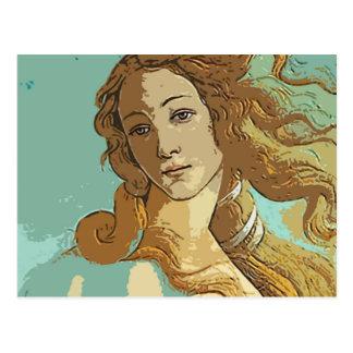 金星の女神のBirh ポストカード