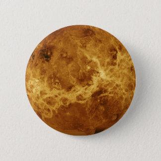 金星の惑星の写真 5.7CM 丸型バッジ