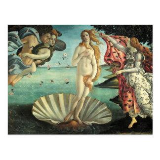 金星の誕生- Botticelli著クラシックな芸術 ポストカード