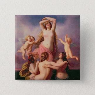 金星1846年の誕生 5.1CM 正方形バッジ