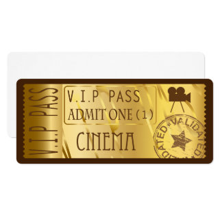 金映画チケットの招待状 10.2 X 23.5 インビテーションカード