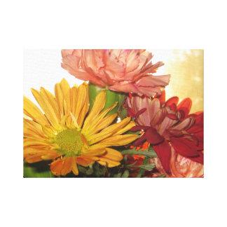 金時間の秋の花 キャンバスプリント