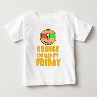 金曜日のオレンジ ベビーTシャツ