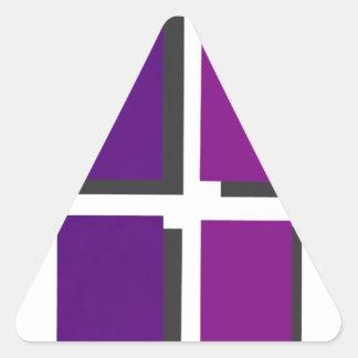 金曜日の友人のロゴ 三角形シール