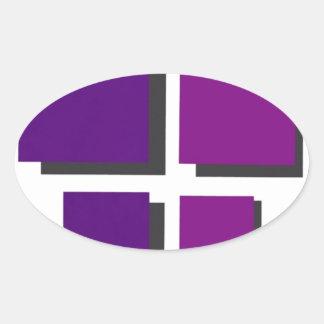 金曜日の友人のロゴ 楕円形シール
