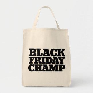 金曜日の黒いチャンピオン トートバッグ