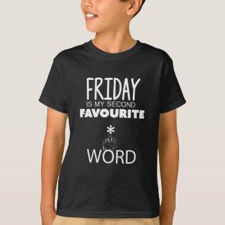 金曜日第2の好みの単語 Tシャツ