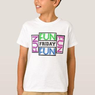 金曜日! それはおもしろいを意味します! おもしろい! おもしろい! おもしろい! Tシャツ