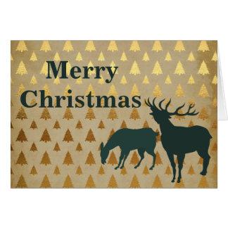 金木のメリークリスマスのオオシカ のトナカイ グリーティングカード