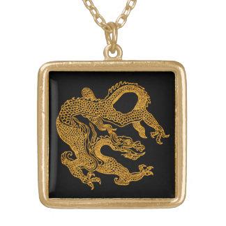 金東洋のドラゴン01 ゴールドプレートネックレス