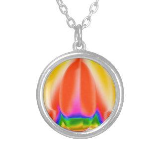 金栄光-宝石はエメラルドで置きました シルバープレートネックレス