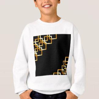 金正方形が付いている背景 スウェットシャツ