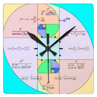 金比率の数学の時計 スクエア壁時計