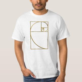 金比率の神聖なフィボナッチ螺線形 Tシャツ