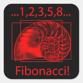 金比率、フィボナッチ螺線形 スクエアシール