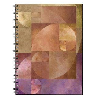 金比率、フィボナッチ螺線形 ノートブック