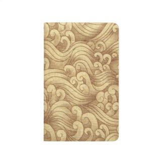 金津波の海の高波のムギ色の海 ポケットジャーナル