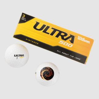金液体の螺線形 ゴルフボール