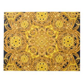 金渦巻の曼荼羅 ノートパッド