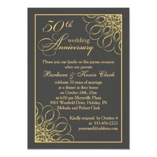 金渦巻第50の結婚記念日 11.4 X 15.9 インビテーションカード