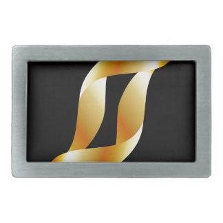 金渦巻 長方形ベルトバックル