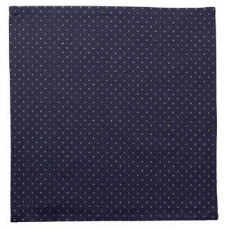 金点と濃紺布のナプキン ナプキンクロス