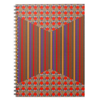 金点エレガントなXのストリップの装飾のフェスティバルのおもしろい ノートブック