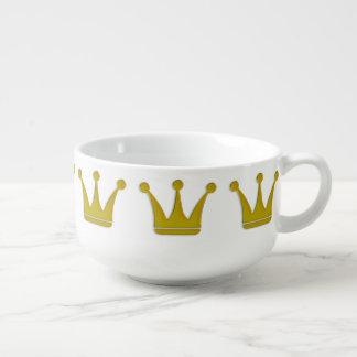 金王冠のボーダー + あなたのアイディア スープマグ