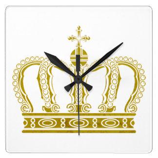 金王冠 + あなたのアイディア スクエア壁時計