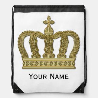 金王冠 + あなたの文字 ナップサック