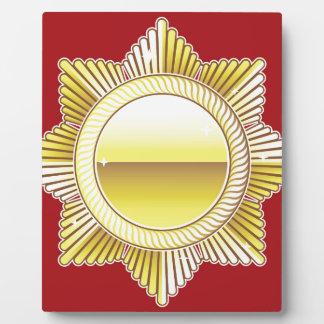 金王室のなメダルブランクのベクトル フォトプラーク