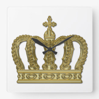 金王室のな王冠II + あなたのbackgr。 及びアイディア スクエア壁時計