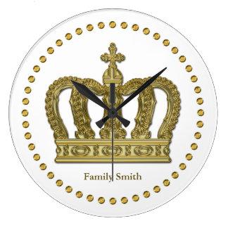 金王室のな王冠II + あなたのbackgr。 及びアイディア ラージ壁時計