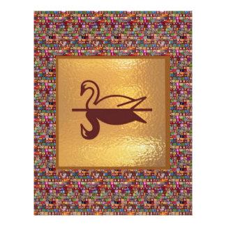 金白鳥-幸せな休日の装飾 レターヘッド