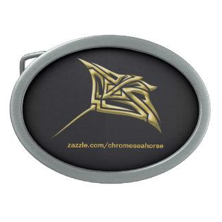 金種族のアカエイのベルトの留め金 卵形バックル