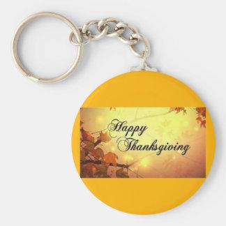 金空および葉の幸せな感謝祭 キーホルダー