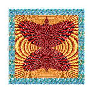 金空中波の抽象美術のギフトの蝶 キャンバスプリント