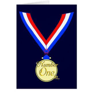 金第1メダル受賞者の金ゴールド カード